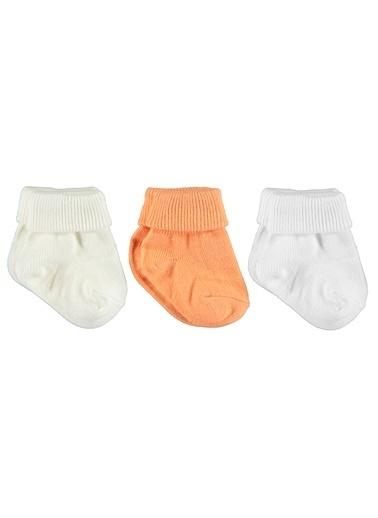 Minidamla 3'lü Çorap Oranj